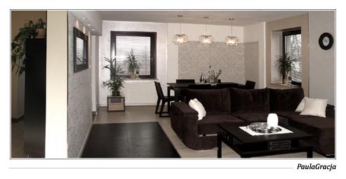 Salon w domu jednorodzinnym w Oławie